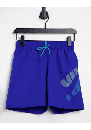 Nike Swimming 5 inch volley shorts in blue