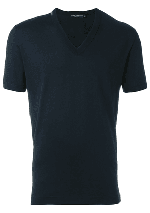 Dolce & Gabbana V-neck T-shirt - Blue