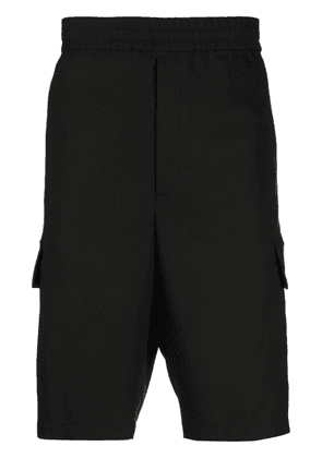 Neil Barrett elasticated-waist knee-length cargo shorts - Black