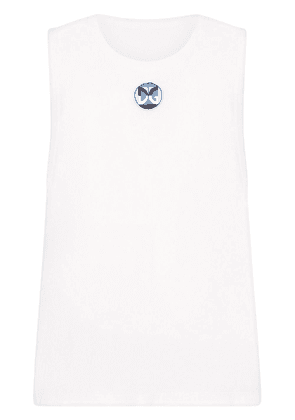 Dolce & Gabbana DG-patch vest top - White