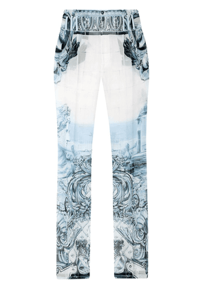 Dolce & Gabbana patterned-jacquard tailored trousers - White