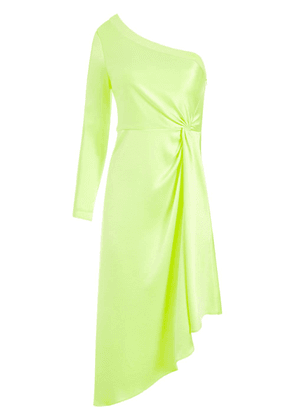 Alice+Olivia one-shoulder midi dress - Green