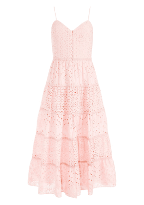 Alice+Olivia cut out-detail midi dress - Pink