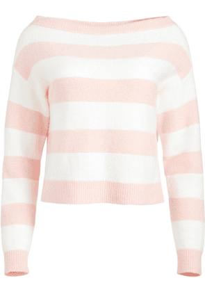 Alice+Olivia striped knitted jumper - White