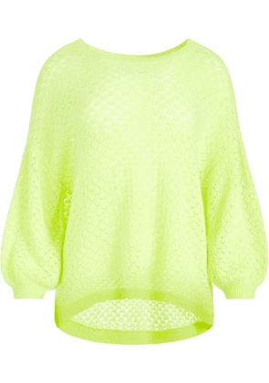 Alice+Olivia open-knit cashmere jumper - Green
