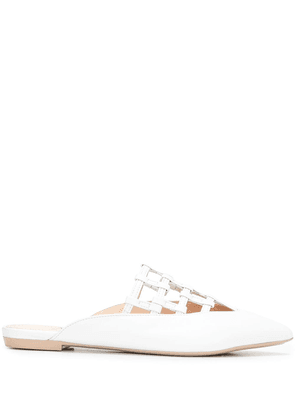 AGL pointed-toe leather mules - White