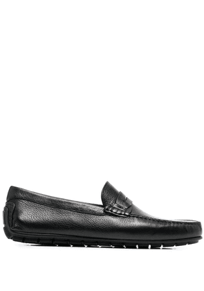 Canali Penny slip-on loafers - Black