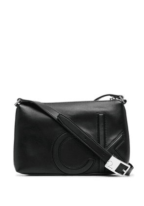 Calvin Klein logo-embossed crossbody bag - Black