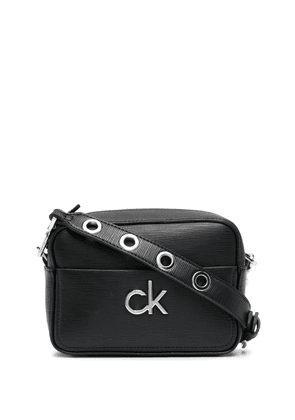 Calvin Klein logo-plaque crossbody bag - Black