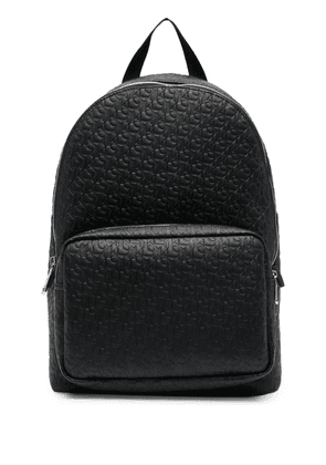 Calvin Klein Campus jacquard-logo backpack - Black