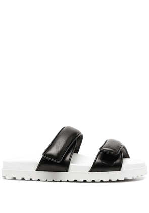Gia Couture padded strap slides - Black