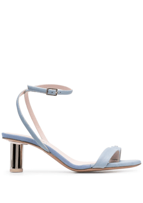 Anna Baiguera wraparound low-heel sandals - Blue