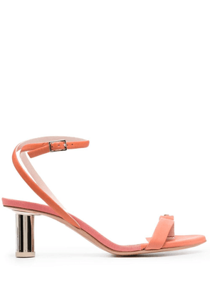 Anna Baiguera wraparound low-heel sandals - Pink