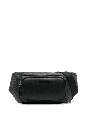 Calvin Klein monogram-patterned belt bag - Black