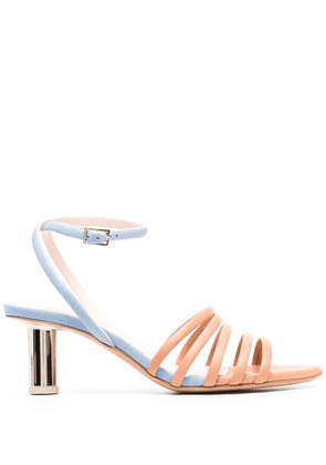 Anna Baiguera strappy colour-block sandals - Blue