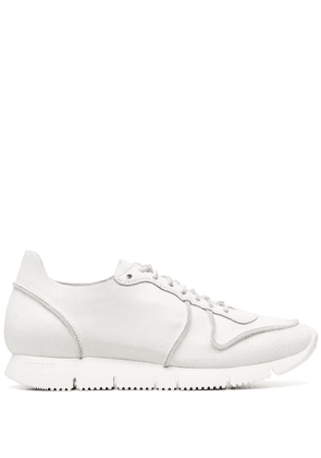 Buttero leather-panel trainers - White