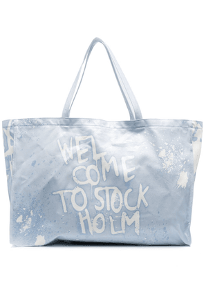 Acne Studios Welcome To Stockholm tote bag - Blue