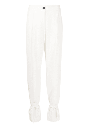 Erika Cavallini high-waisted tied trousers - Neutrals