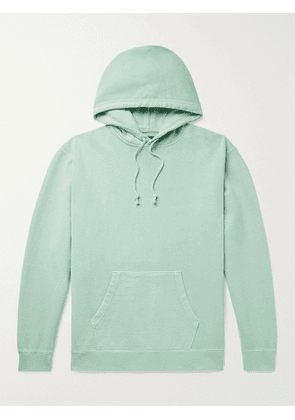 BEAMS PLUS - Pigment-Dyed Loopback Cotton-Jersey Hoodie - Men - Green - S