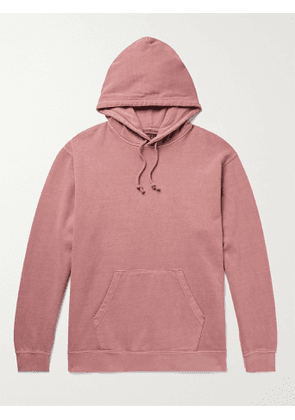 BEAMS PLUS - Pigment-Dyed Loopback Cotton-Jersey Hoodie - Men - Red - S