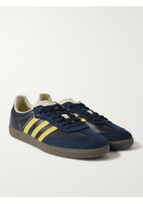 ADIDAS CONSORTIUM - Wales Bonner Samba Leather and Suede Sneakers - Men - Blue - 5