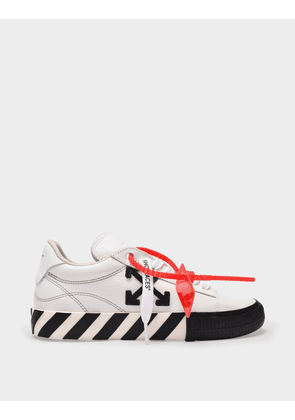 Off-White Low Vulcanized Sneakers in White and Black