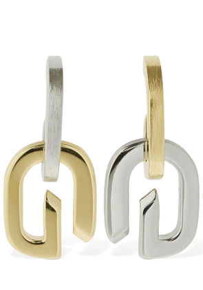 G Link Bicolor Drop Earrings