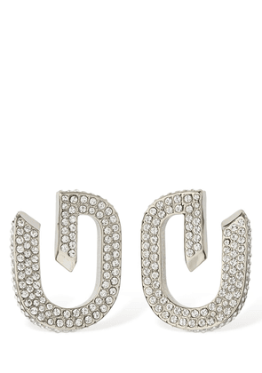 G Link Crystal Stud Earrings