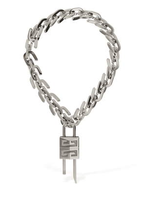 G Link Lock Logo Short Necklace