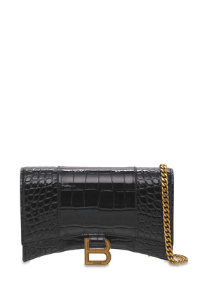 Leather Hour Chain Wallet