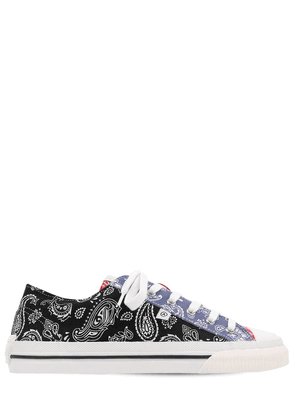 Midnight Low Paisley Printed Sneakers