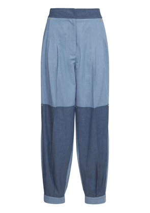 Patchwork Washed Chambray Pants