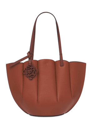 Small Shell Leather Tote Bag