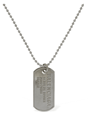Military Tag Logo Necklace