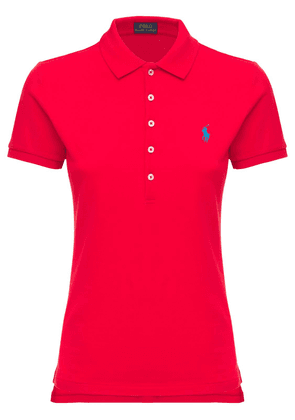 Julie Stretch Cotton Mesh Polo