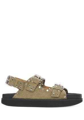30mm Ophie Studded Suede Sandals