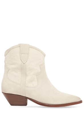 40mm Demar Canvas & Suede Ankle Boots