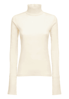 Cotton Jersey Turtleneck Sweater