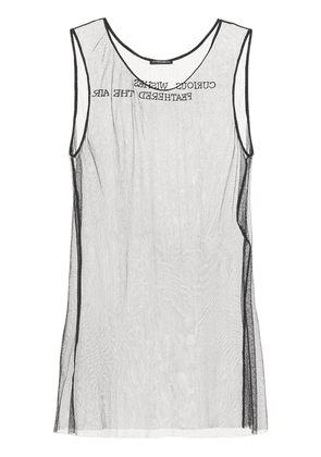 See-through Silk Tulle Tank Top