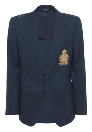 Iconic Logo Crest Wool Jacket