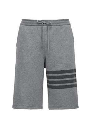 Tonal 4 Bar Cotton Sweat Shorts