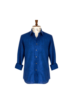 Prussian Blue Linen Shirt