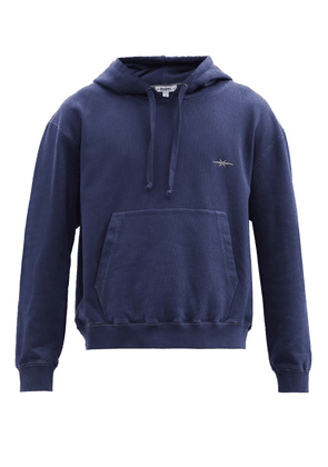 Phipps - Logo-embroidered Cotton-jersey Hooded Sweatshirt - Mens - Navy