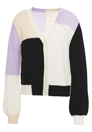 Chinti & Parker Color-block Wool And Cashmere-blend Cardigan Woman Cream Size XS