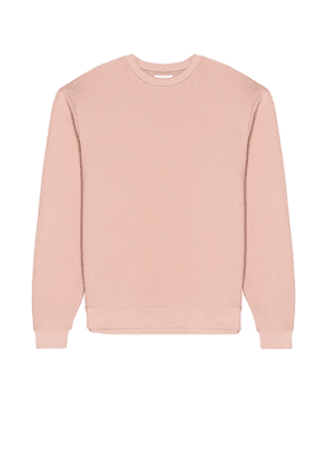 JOHN ELLIOTT Oversized Crewneck Pullover in Pink. Size S, M, XL.