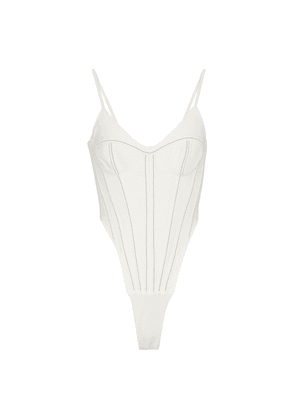 Stretch-cady corset bodysuit