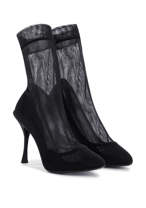 Bette stretch-mesh sock boots