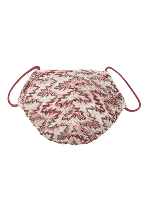 Missoni crochet-knit mask - Pink