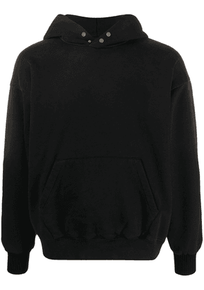 Fear Of God faded-effect cotton hoodie - Black
