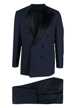 Kiton double-breasted dinner suit - Blue